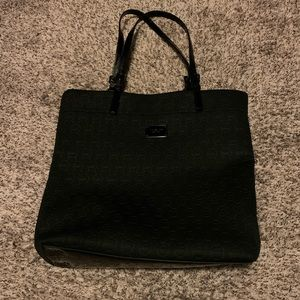 Michael Kors Black Jet Set Monogram Neoprene Tote